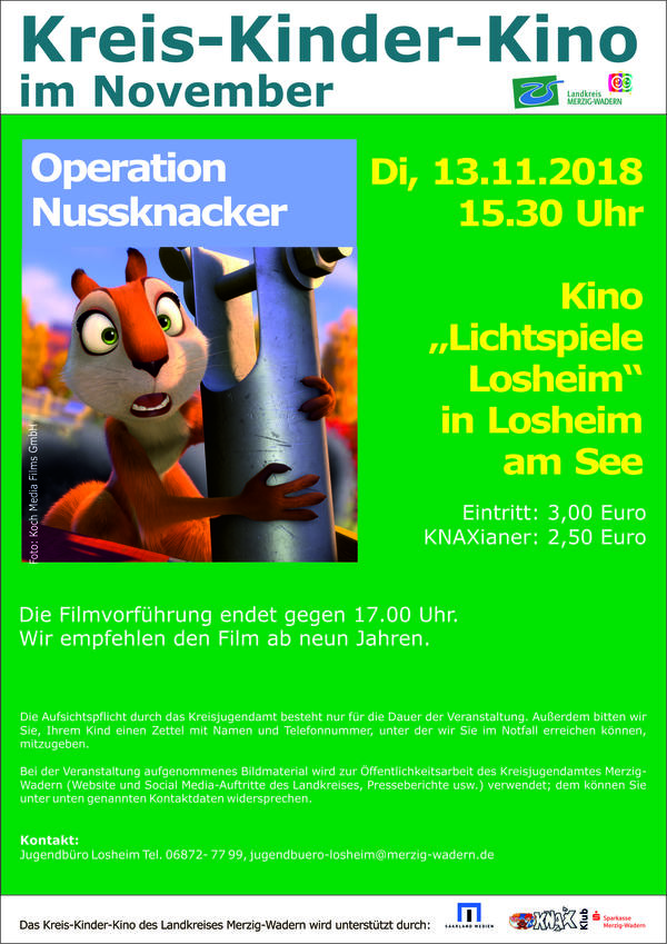 Kreis-Kinder-Kino in Losheim, November 2018