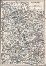 Karte Rheinland um 1905